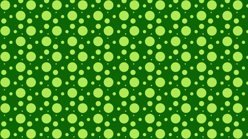 Green Seamless Random Circle Dots Pattern Background Vector Image