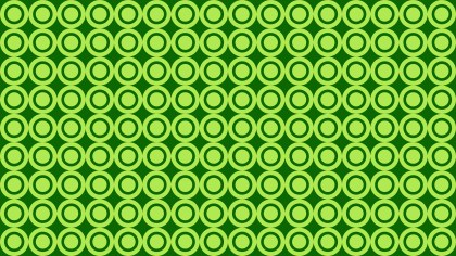 Green Circle Pattern Vector Graphic