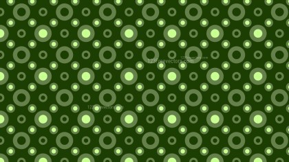 Dark Green Geometric Circle Pattern Vector Illustration