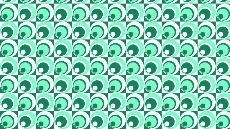 Green Geometric Circle Pattern Background Vector