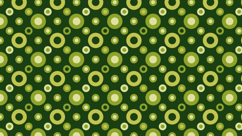Dark Green Seamless Circle Pattern Graphic