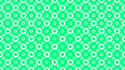 Spring Green Seamless Circle Pattern Background Illustration