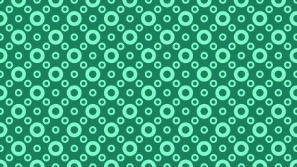 Mint Green Seamless Circle Background Pattern Design