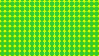 Green and Yellow Seamless Geometric Circle Pattern Background Vector Graphic