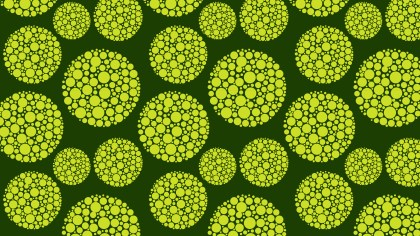 Green Seamless Dotted Circles Background Pattern