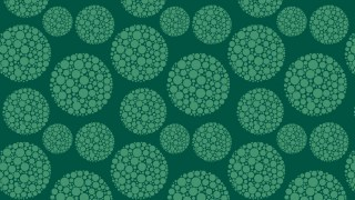 Dark Green Dotted Circles Pattern Vector Illustration