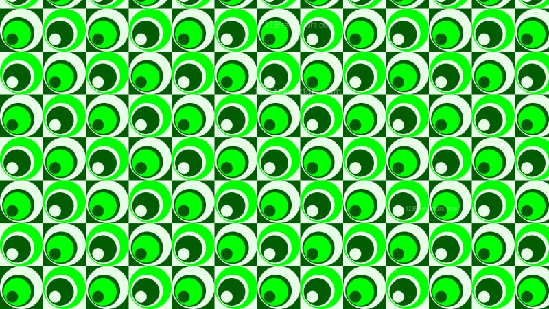Neon Green Circle Pattern Background