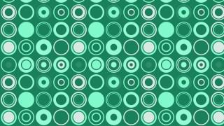 Mint Green Seamless Circle Pattern
