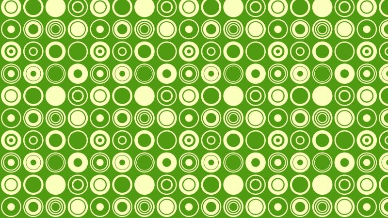 Green Seamless Geometric Circle Pattern