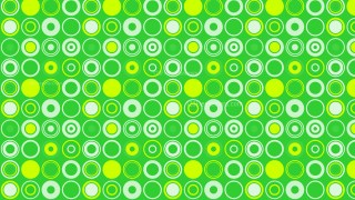 Green Seamless Geometric Circle Background Pattern