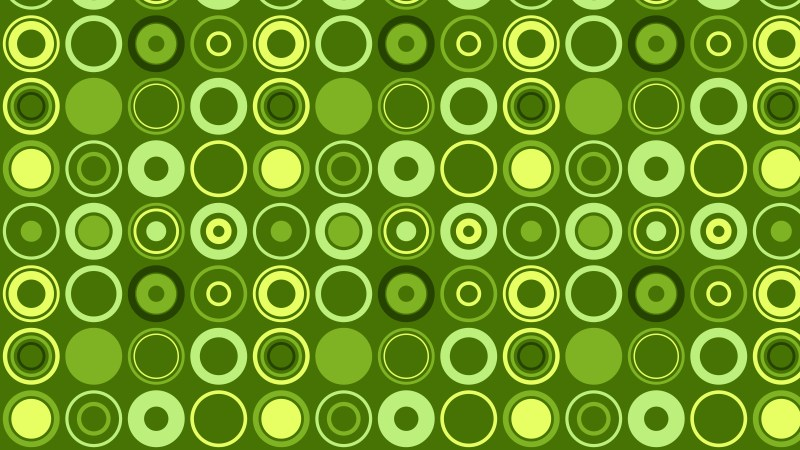 Green Circle Pattern Vector