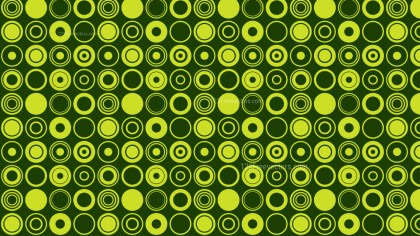 Green Geometric Circle Pattern Illustration