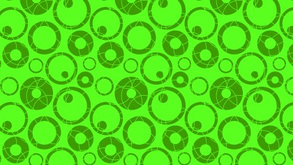 Neon Green Seamless Circle Pattern Vector Graphic