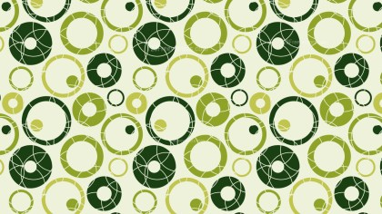 Green Seamless Circle Pattern Background Vector Image