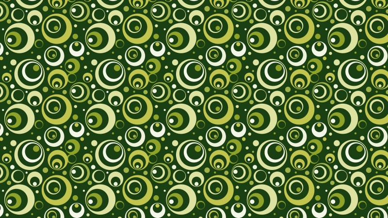 Dark Green Circle Pattern Background