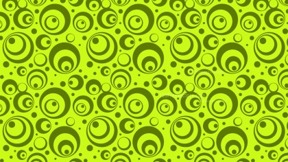 Lime Green Circle Background Pattern