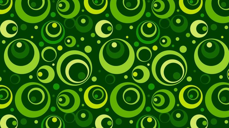 Dark Green Geometric Circle Pattern