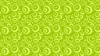 Lime Green Geometric Circle Background Pattern