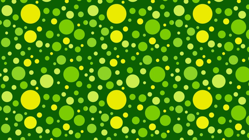 Green Seamless Scattered Dots Pattern Illustration