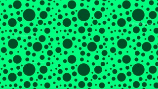 Emerald Green Random Circles Dots Pattern