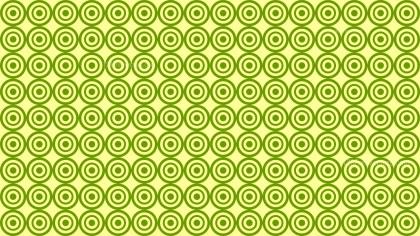 Lime Green Circle Pattern Design