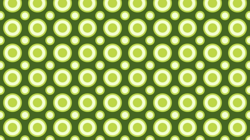 Green Geometric Circle Pattern Vector Image