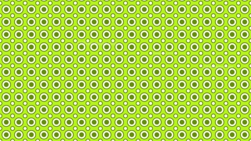 Green Seamless Circle Pattern Vector