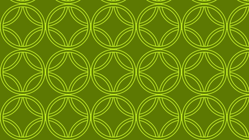 Green Overlapping Circles Pattern Vector