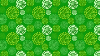 Green Dotted Concentric Circles Pattern