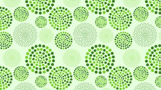 Light Green Dotted Concentric Circles Pattern Background