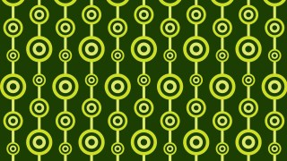 Dark Green Seamless Geometric Circle Pattern Background Design