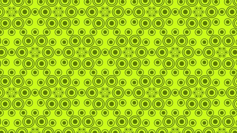 Lime Green Seamless Geometric Circle Background Pattern Image