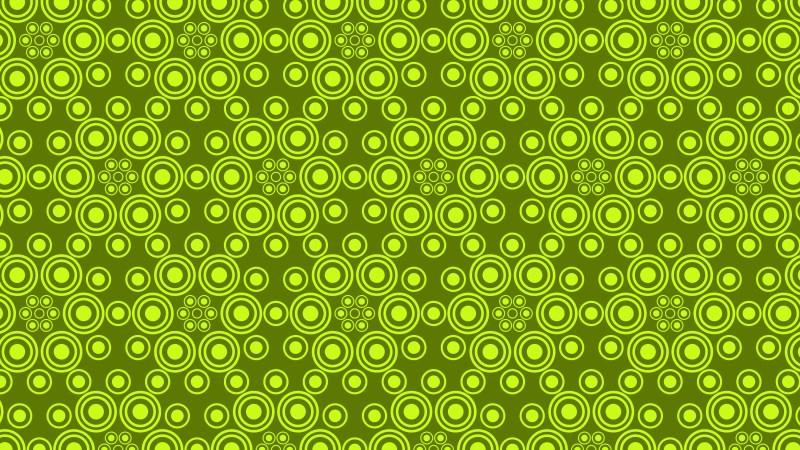 Green Circle Background Pattern