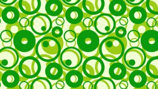 Green Overlapping Circles Pattern Background Vector Art