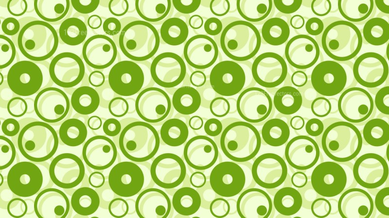 Green Geometric Circle Pattern Background