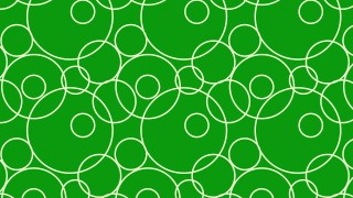 Green Seamless Overlapping Circles Pattern Illustration