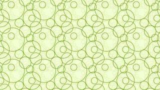 Light Green Seamless Overlapping Circles Pattern Background Design