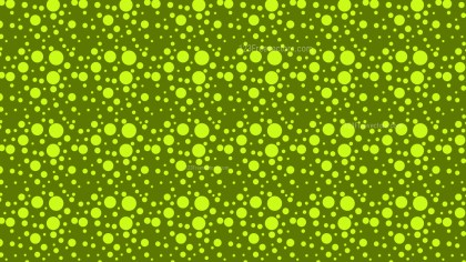 Green Seamless Random Circle Dots Pattern