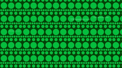 Dark Green Seamless Geometric Circle Background Pattern