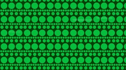 Dark Green Seamless Geometric Circle Background Pattern