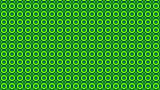 Green Geometric Circle Pattern Vector Art