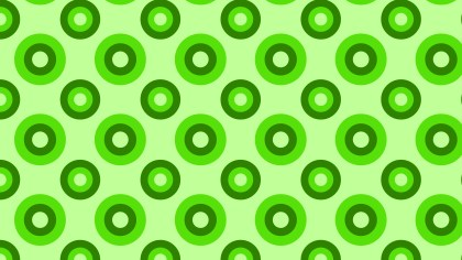 Green Seamless Geometric Circle Pattern Vector Image