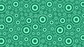 Mint Green Circle Pattern