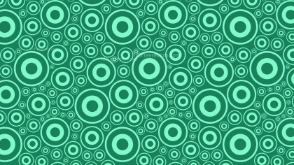 Mint Green Circle Pattern