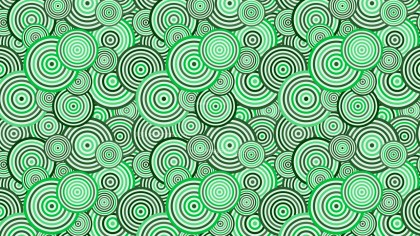 Green Overlapping Concentric Circles Pattern Vector Art
