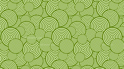 Green Seamless Overlapping Concentric Circles Background Pattern Vector Graphic