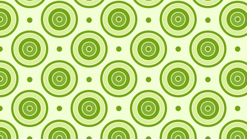 Green Seamless Concentric Circles Background Pattern