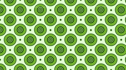 Green Concentric Circles Background Pattern Graphic
