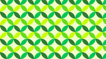 Green Seamless Overlapping Circles Background Pattern Image