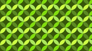 Green Overlapping Circles Background Pattern